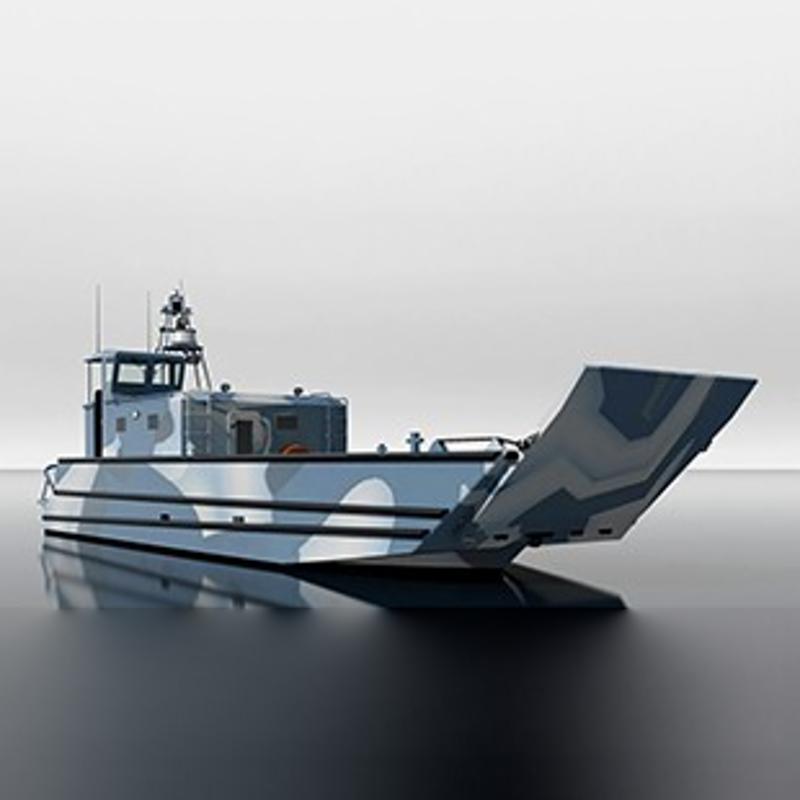 12.8米两栖登陆艇!''